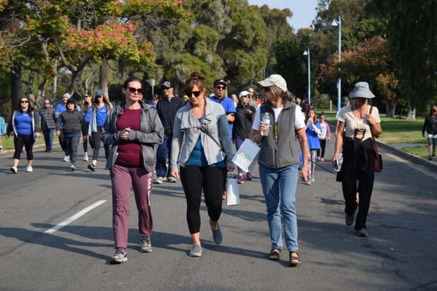 Human+Geography+teacher+Laura+Lowery+attends+the+suicide+walk+at+Balboa+Park+on+Nov.+11th.+She+participated+in+the+walk+with+her+friends+in+remembrance+of+a+lost+loved+one.+