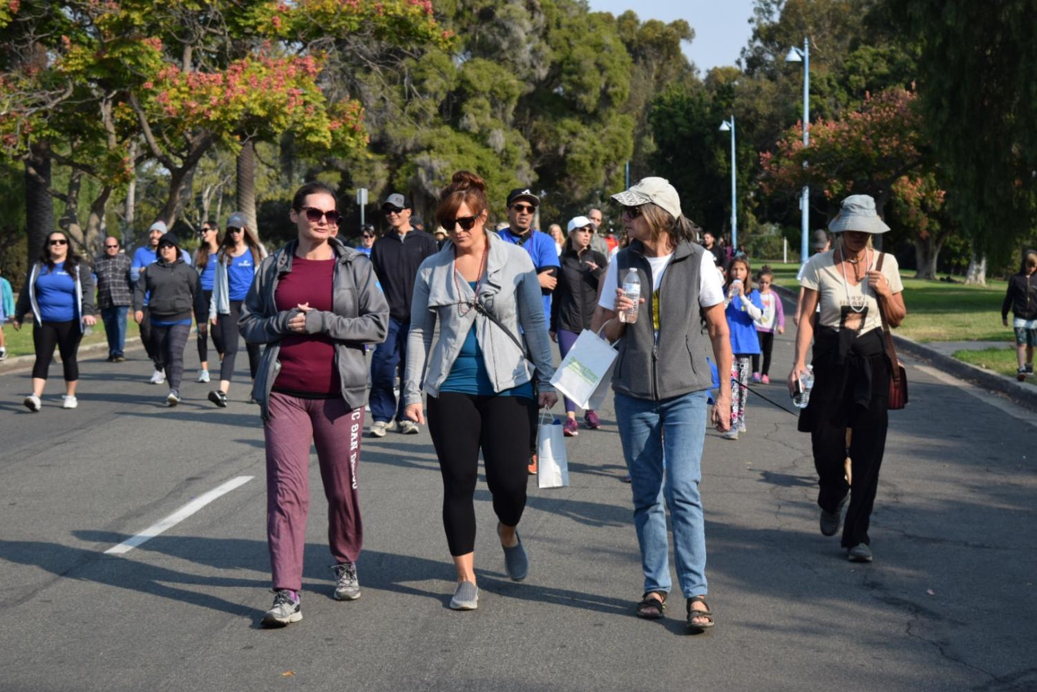 Human Geography teacher Laura Lowery attends the suicide walk at Balboa Park on Nov. 11th. She participated in the walk with her friends in remembrance of a lost loved one.