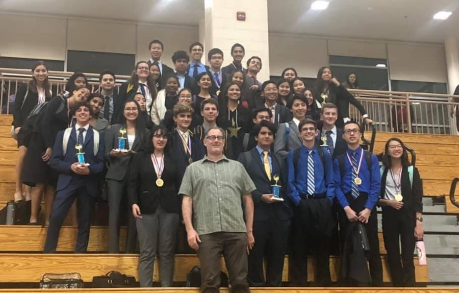 The BVH Speech and Debate team poses for a team picture after completing the 2B League Tournament at Canyon Crest Academy.