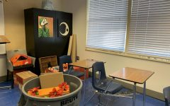 Vandalized classroom discovered with broken windows