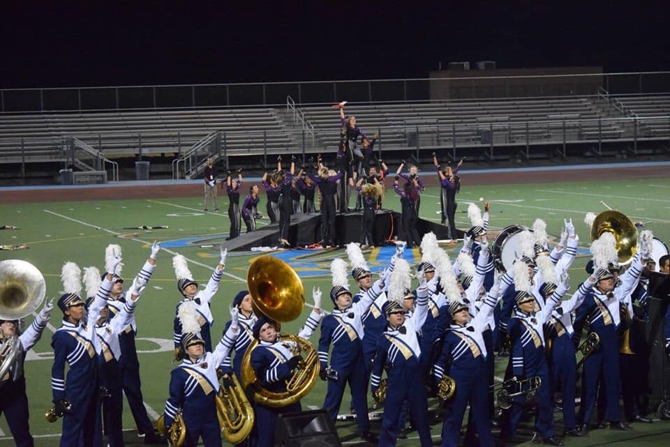 Club Blue finishes up the final movement of their field show