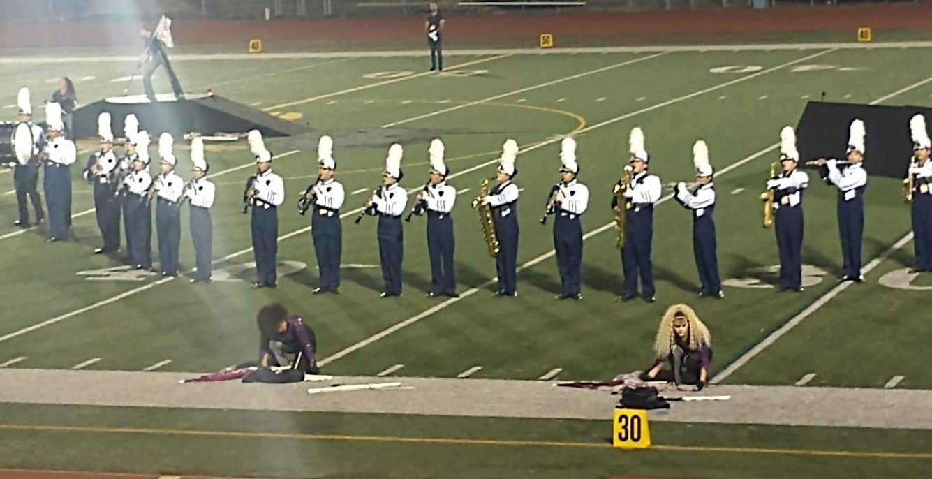 Club Blue performs their field show Rockstar at the Serra Field Tournament on Nov. 7. They are performing their second movement, or part of the field show.