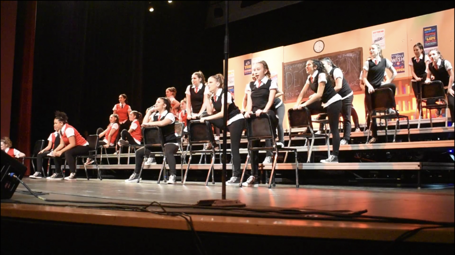 At Lincoln High's theater, Music Machine performs their newest piece