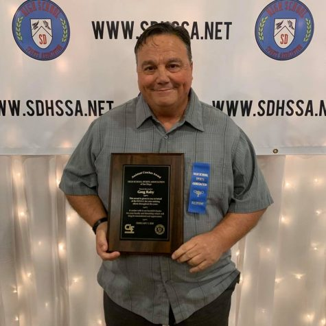 Former BVH football coach Gregory Raby receives the Assistant Coaches Award on Feb. 3, 2020 after his 44 years of athletic service in the Sweetwater Union High School District. It was later publicized on April 21 by the BVH football Instagram account.