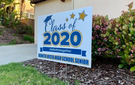 In Chula Vista, a front lawn is adorned by a sign that reads