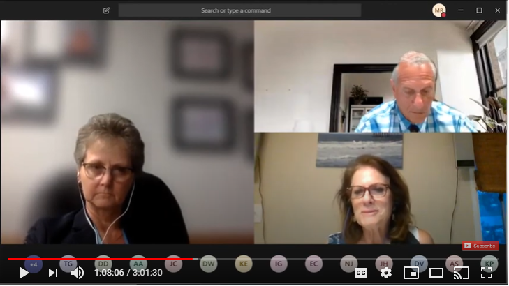 Photo is a screenshot from suhsdk12 Youtube live stream of the SUHSD District Board Meeting on May 26.