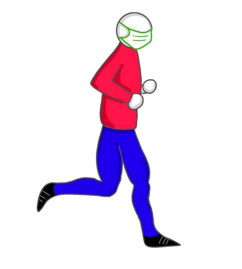 It's mandatory for people to wear masks when running, jogging or walking at the trails of parks.
