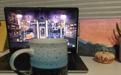 Senior Madison Geering's cup of coffee accompanied by Calmed By Nature ambience music. This link is visited frequently by Geering along with thousands of other viewers.