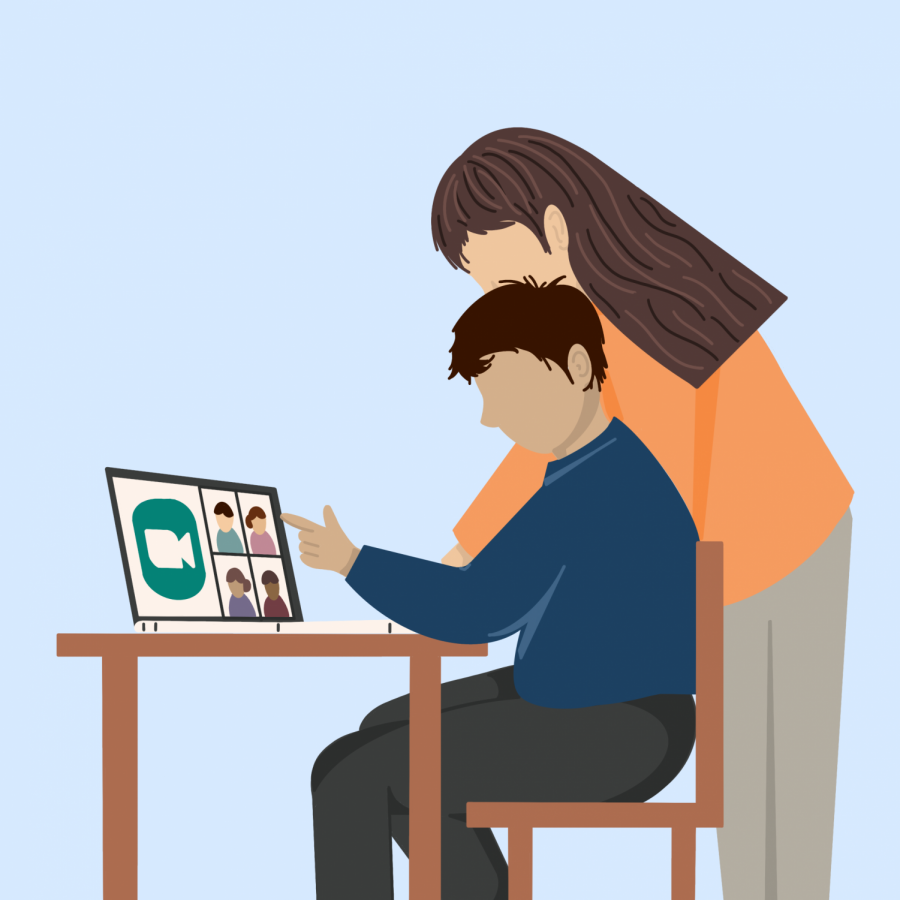 As Special Education students navigate distance learning, parents assist, guide and monitor their children.