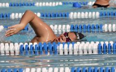 Swimmer and junior Yarenni Hernandez practices after school at Las Palmas pool on Monday, March 8. Swim and dive coach Betty Alexander also coaches water polo during a typical school year.