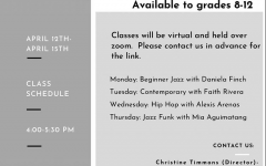 On April 6, Get to the Pointe posted a flyer to promote their dance workshops. The first workshop was April 12 from 4 p.m. to 5:30 p.m.