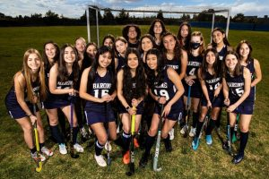 The BVH Field Hockey team poses for their team photo.