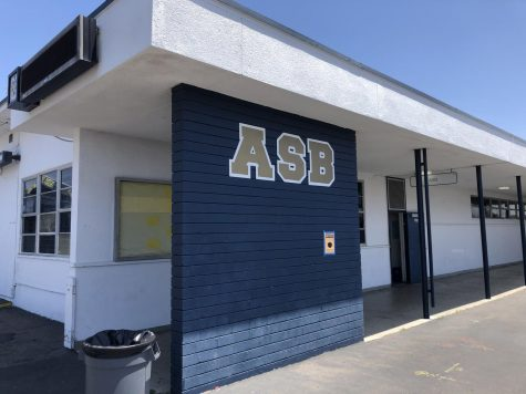 The Associated Student Body building from the outside. The ASB is in charge of school spirit activities throughout the year.