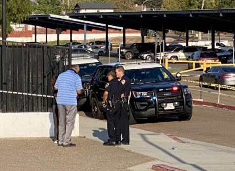 On Wednesday, Sept. 15, two police vehicles were present near Bonita Vista Highs (BVH) gym. Two police officers were in communication with BVH Assistant Principal Carlos Siragusa and a student.