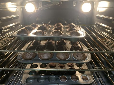 Senior Nadia Martinez baked Betty Crocker chocolate muffin mix during her 10 days of quarantine due to exposure from COVID-19. Martinez slowly watched as the muffins rose in the oven.