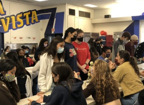 BVH International Baccalaureate (IB)  Diploma Candidates shared their selected Theory of Knowledge (ToK) project prompts and chosen artifacts that answer the prompt with their peers. Students gathered in the cafeteria to showcase their work and learn about others' projects.